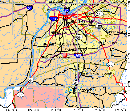 Fairdale, KY map