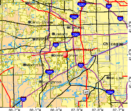 Clarendon Hills, IL map