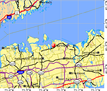 Northport, NY map