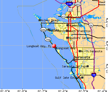 Longboat Key, FL map