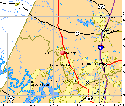 Leander, TX map