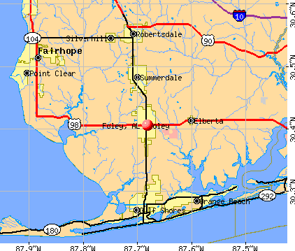 Foley, AL map