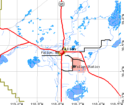 Fallon, NV map
