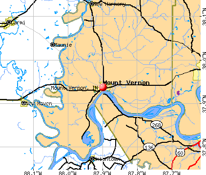 Mount Vernon, IN map