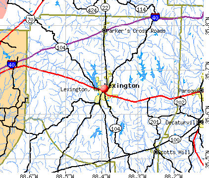 Lexington, TN map