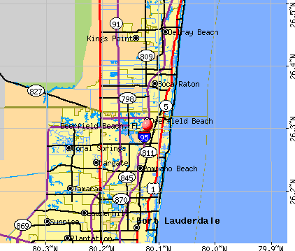 Deerfield Beach, FL map