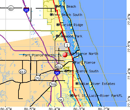 Fort Pierce North, FL map