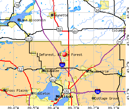 DeForest, WI map