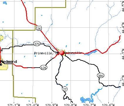 Prineville, OR map