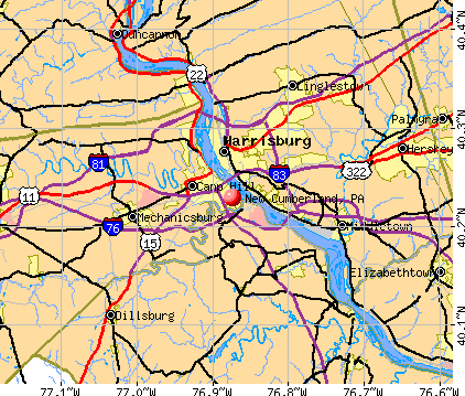 New Cumberland, PA map