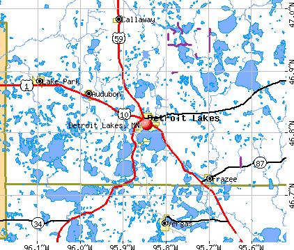 Detroit Lakes, MN map
