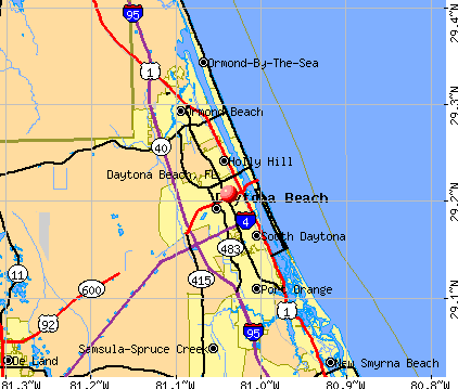 daytona beach  fl map