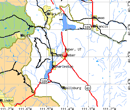 Heber, UT map