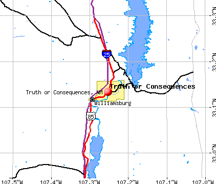 Truth or Consequences, NM map