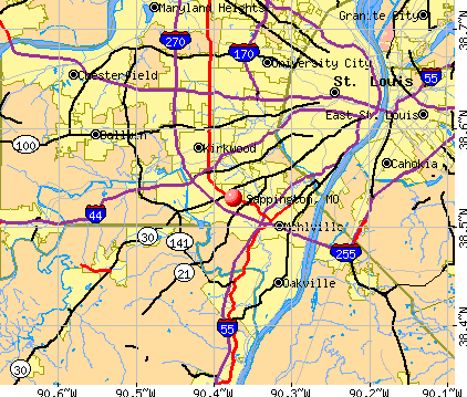 Sappington, MO map