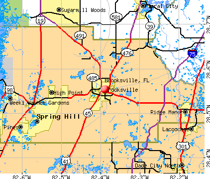Brooksville, FL map