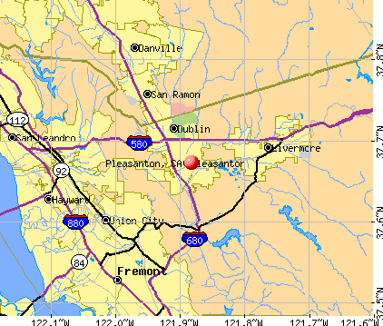 Pleasanton, CA map
