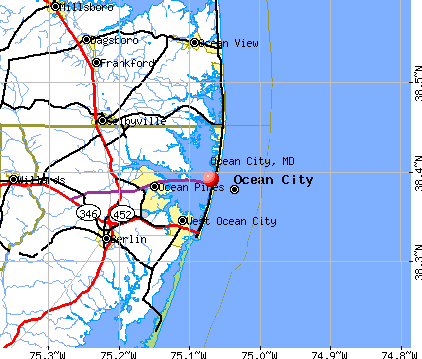 Ocean City, MD map