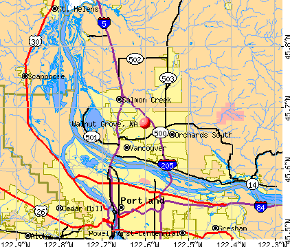 Walnut Grove, WA map