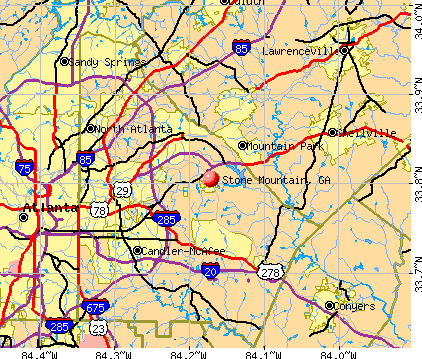 Stone Mountain, GA map