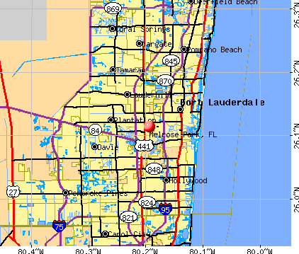 Melrose Park, FL map