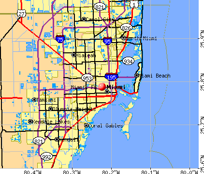 Miami, FL map