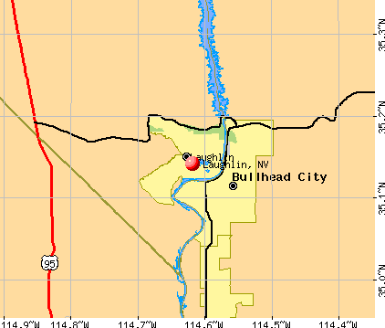 Laughlin, NV map
