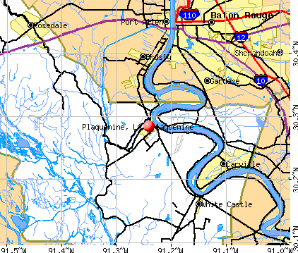 Plaquemine, LA map