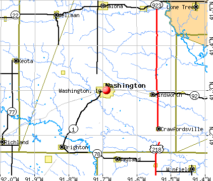 Washington, IA map