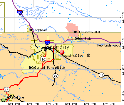 Rapid Valley, SD map