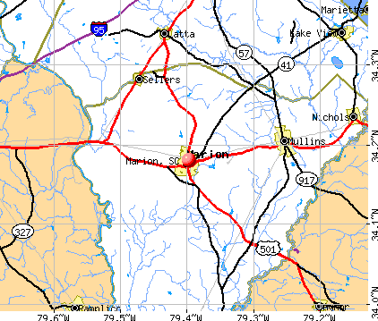 Marion, SC map