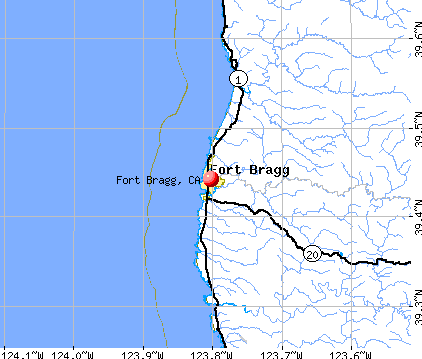 Fort Bragg, CA map