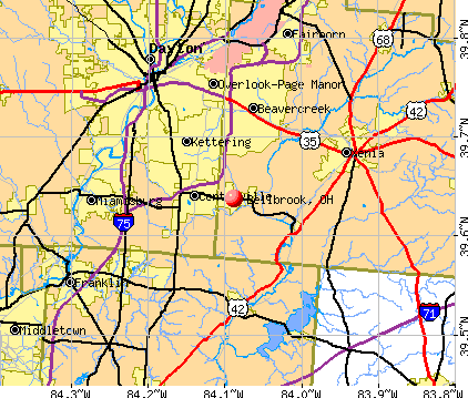 Bellbrook, OH map
