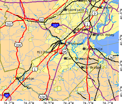 Milltown, NJ map