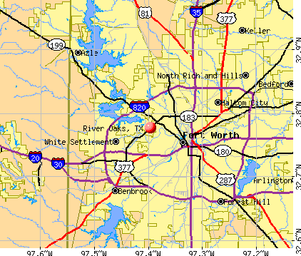 River Oaks, TX map