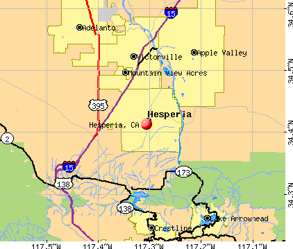 Hesperia, CA map