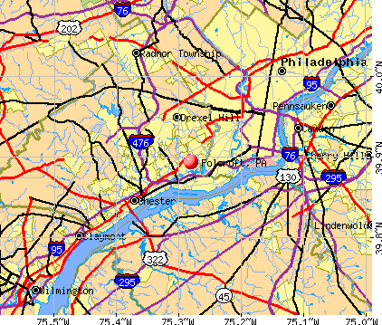 Folcroft, PA map