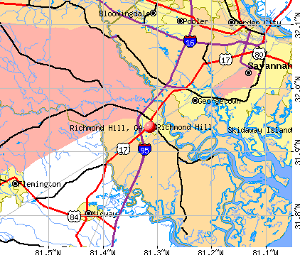Richmond Hill, GA map