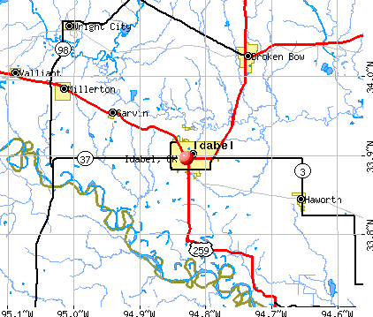 Idabel, OK map