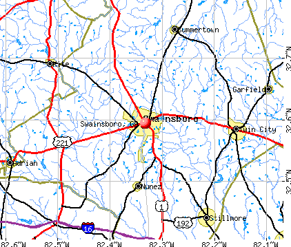 Swainsboro, GA map