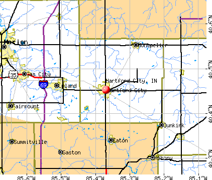 Hartford City, IN map