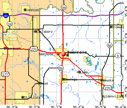 Seminole, OK map