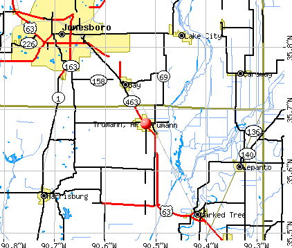 Trumann, AR map