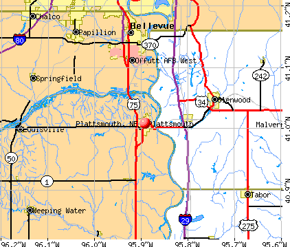 Plattsmouth, NE map