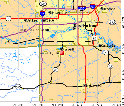 Norwalk, IA map