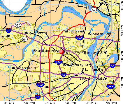 St. John, MO map