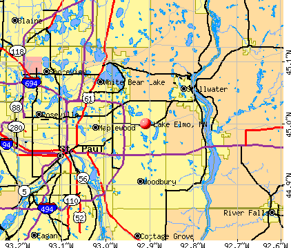 Lake Elmo, MN map