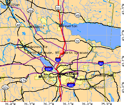 North Syracuse, NY map