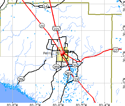 Perry, FL map