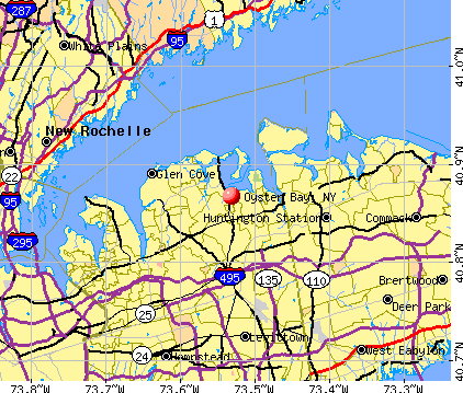 Oyster Bay, NY map